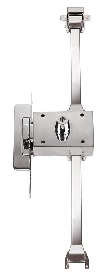 Inceca 3690005 - Cerradura de sobreponer, 3 puntos, solo llave, doble cilindro,
