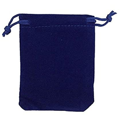 ade416259450cd Amazon.com: KUPOO 50 Pieces Wholesale Lot - Royal Blue Velvet Cloth Jewelry  Pouches/Drawstring Bags 4