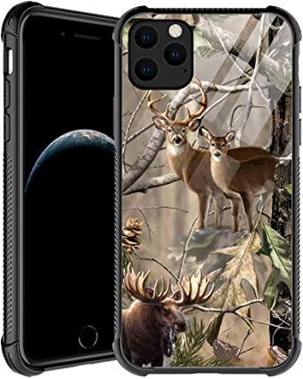 iPhone 11 Case,Camo Deer iPhone 11 Cases for Men Boys,Shockproof Anti-Scratch Soft TPU Pattern Design Case for Apple iPhone 11 6.1-inch Camo Deer