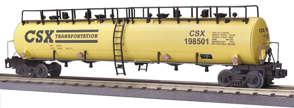 MTH 1:48 O Scale 20K Gallon 4-Compartment Tank Car CSX #198501 #20-96023
