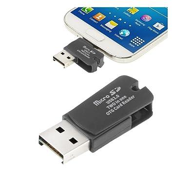 2en1 USB 2.0 OTG Lector de tarjetas de memoria (micro SD) para Samsung Galaxy S3, S4, S5, S6, Galaxy Note 4…