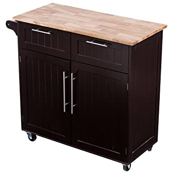 Giantex Rolling Kitchen Cart On Wheels Cabinet Storage Cart Island Heavy  Duty Storage Rolling Trolley