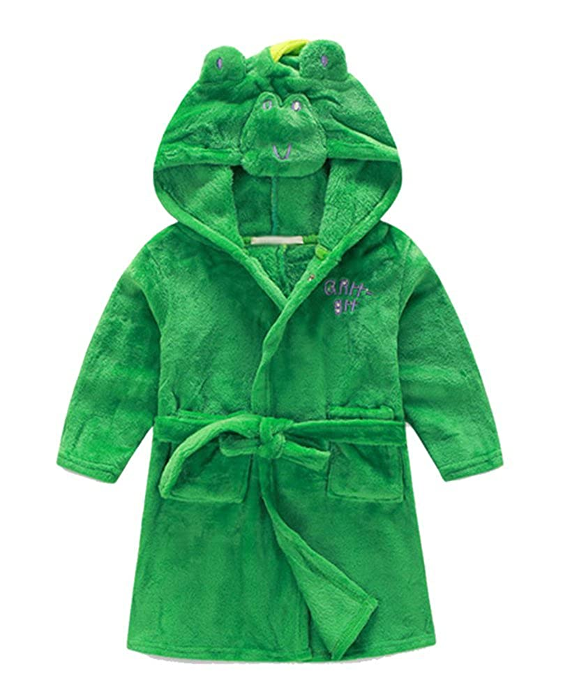 DQdq Little Girl's Unisexy Kids Coral Fleece Bathrobe Robe