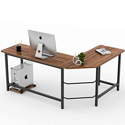 Charmant Amazon.com : Tribesigns Vintage L Shaped Desk Corner Computer Desk PC  Laptop Study Table Workstation Home Office Wood U0026 Meta, Retro Style : Office  Products