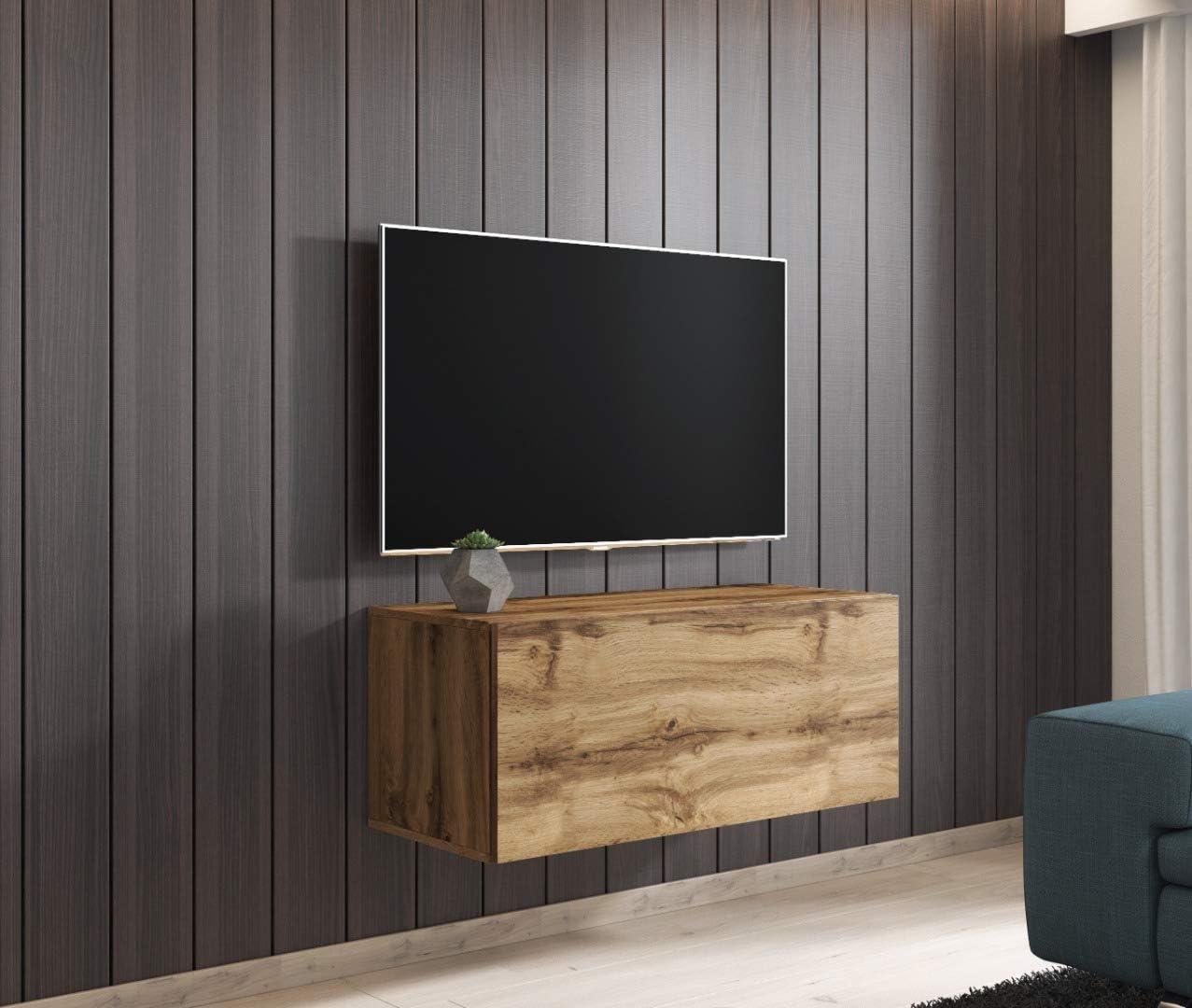 E-com - Mueble TV Salon Moderno Mesa Television Fay - 100 cm ...