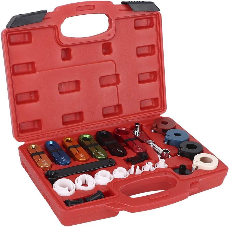 Removedor de l/ínea de tuber/ía de combustible 22Pcs//Set Manguera de aire acondicionado para autom/óvil Kit de herramienta de desconexi/ón de aceite Reparaci/ón de veh/ículos