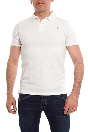 Scalpers Basic Air, Polo de Manga Corta para Hombre, Blanco (white ...