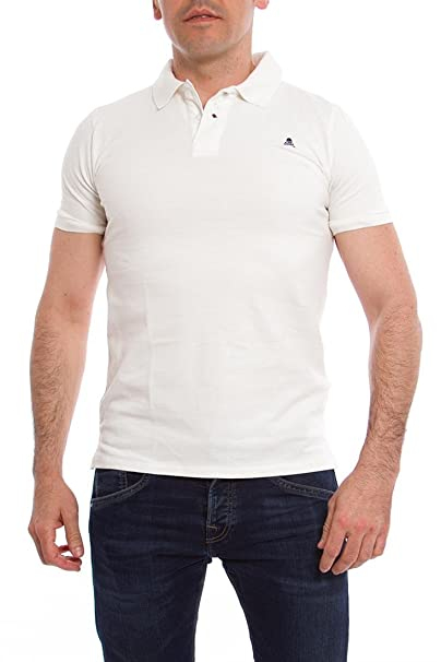 Scalpers Basic Air, Polo de Manga Corta para Hombre, Blanco (white ...