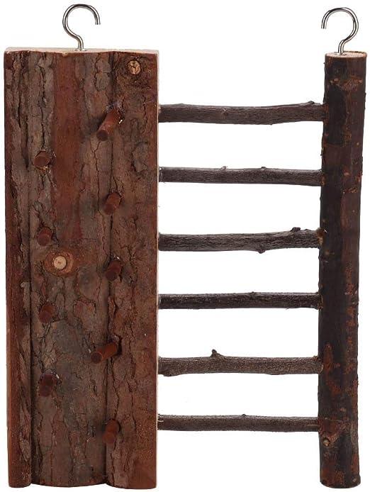 Bicaquu 1 unids Madera Hamster Pie Escalera Escalada Juguete Descompresión Ventilación Suministros para Mascotas: Amazon.es: Productos para mascotas