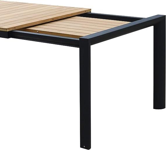 Idilik - Mesa Extensible (Teca y Aluminio, 160/220 x 92 cm), Color ...
