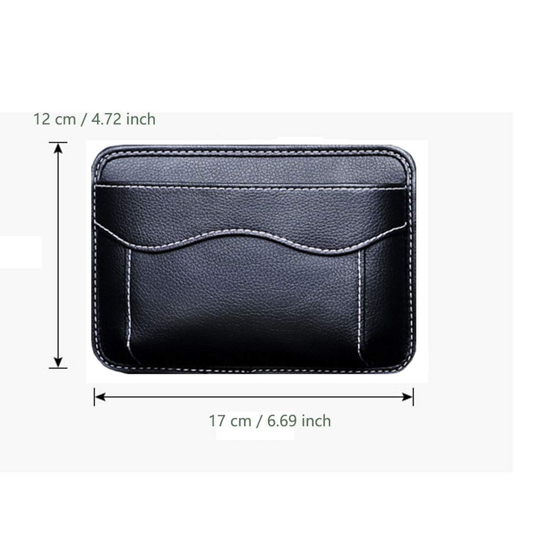 Notepad Car Side Pocket Organizer Console Window Registration Seat -Fits to Organize Document Black Gadgets Auto Seat Pockets PU Leather Pen Phone Holder Tray Pouch Used for Car Door Pen
