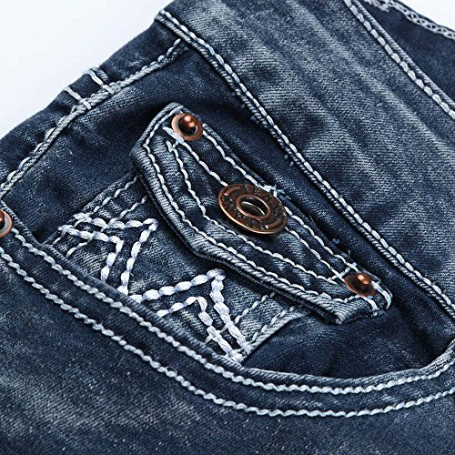 Sunenjoy 3XL Skinny Droit Crayon Taille Straight tendue Haute Bleu Fonc Pantalons Grande S Femme Pantalon Taille Trousers Pants Denim Shaping Jeans Fitness rqrxPwBSH