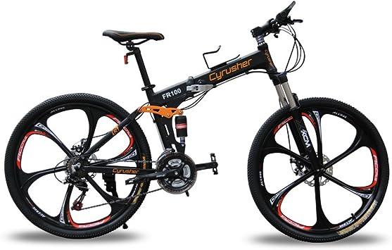 Cyrusher® New Updated Black FR100 Mountain Bike Folding Frame MTB ...
