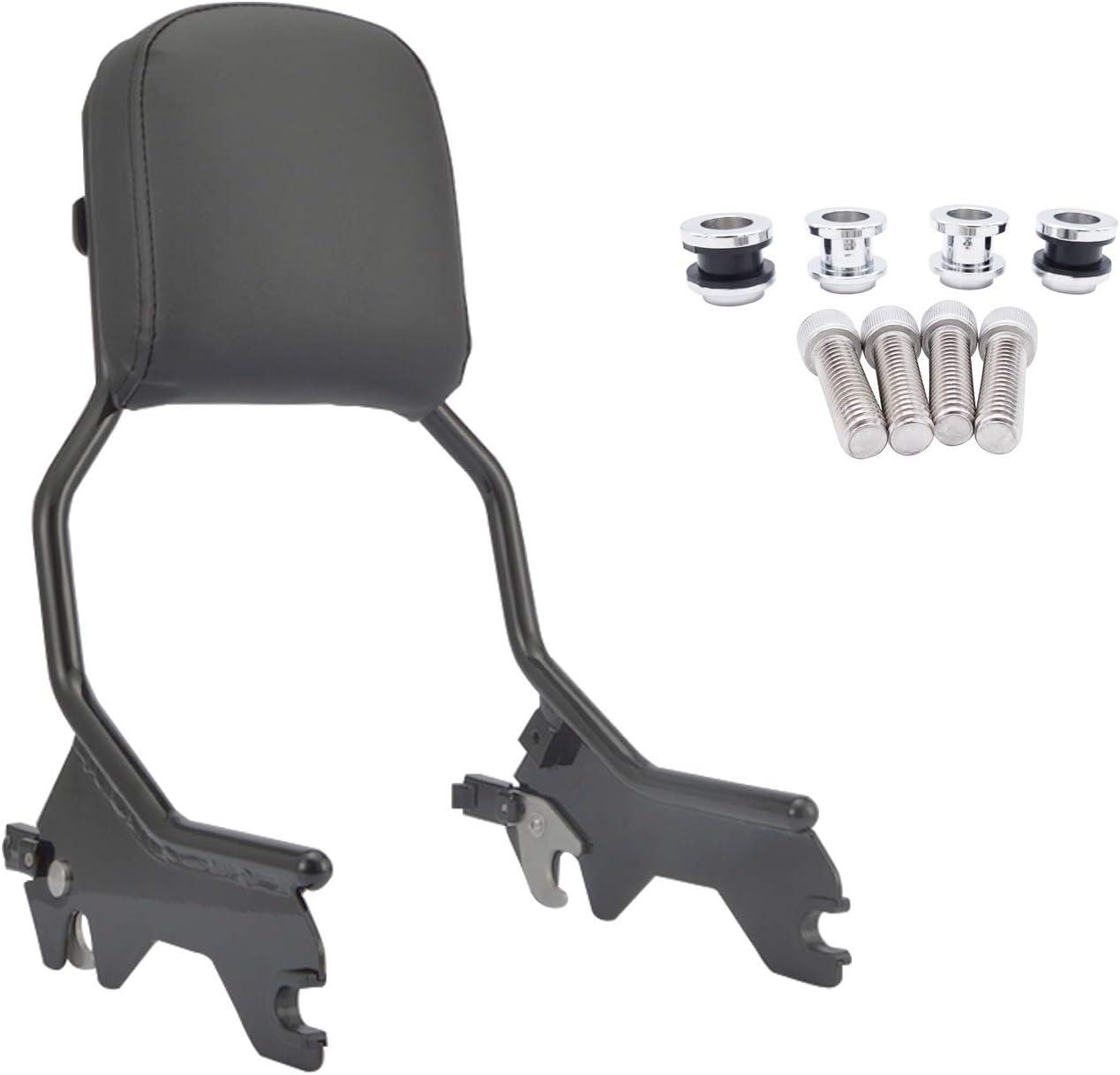 HTTMT Holdfast Sissy Bar Backrest Upright Standard Black Compatible With 2018-2020 Harley FLFB FLFBS FXBR FXBRS/ P//N: TGHD-SBB048