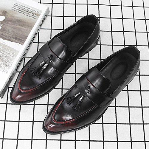 Antideslizante Coreana con Zapatos De Los Zapatos Casuales Versión Retro Desgaste Británicos Marea Red De Resistente Comodidad De Hombres Los Koyi Zapatos Flecos Al Twq5SP
