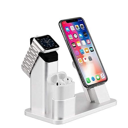 Soporte para reloj Apple, soporte cargador inalámbrico 3 en ...