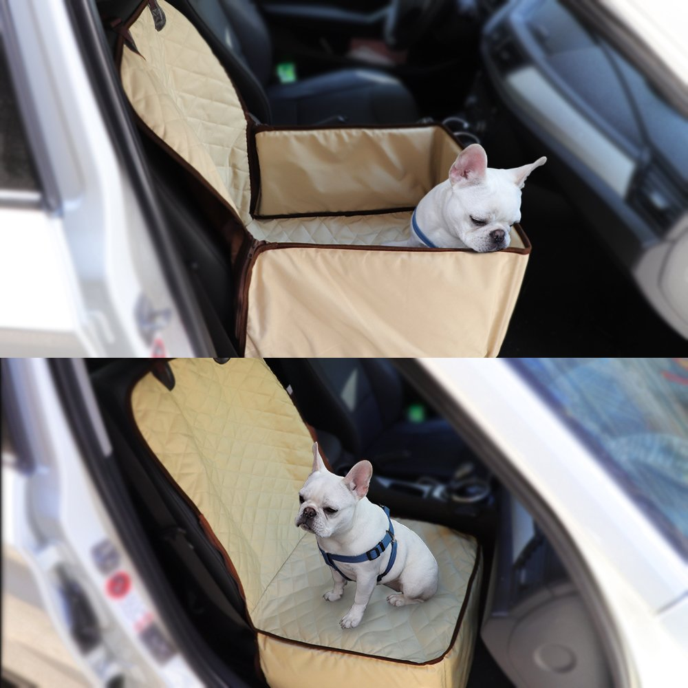 Aoxun Pet Front Seat Cover Cars Anchors, Non- Slip Backing Waterproof Durable Machine Washable All Cars Trucks & SUVs