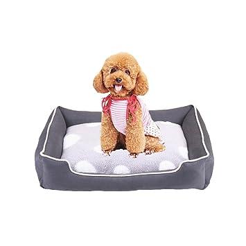 Cama para Perros Gatos Y Otros Animales Domésticos Pequeña Medio Grande Cama Desmontable Lavado Cómodo Casa para Mascotas,Gray,M:60×47×14Cm: Amazon.es: ...