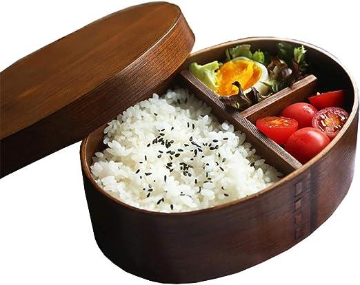 Madera recipiente de almacenamiento de alimentos caja de almuerzo ...