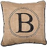 JSBStore Black Piping (Monogram B) Pillow Case Cushion Cover Home Sofa Decorative 18 X 18 Squares Gift Choice