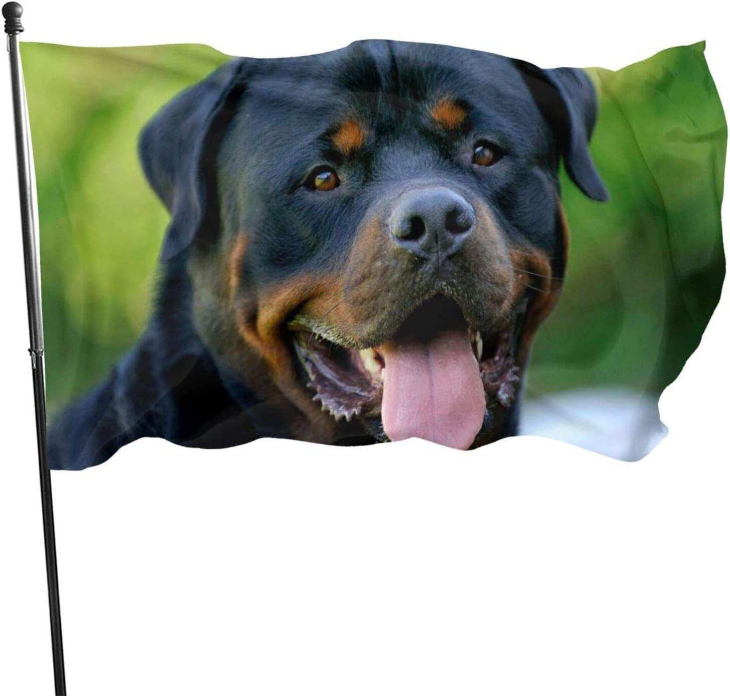 MVNB Rottweiler Dog 3x5 Foot Polyester Flag,Fade Resistant Durable Beach Flags with Header and Brass Grommet,Easy to Use