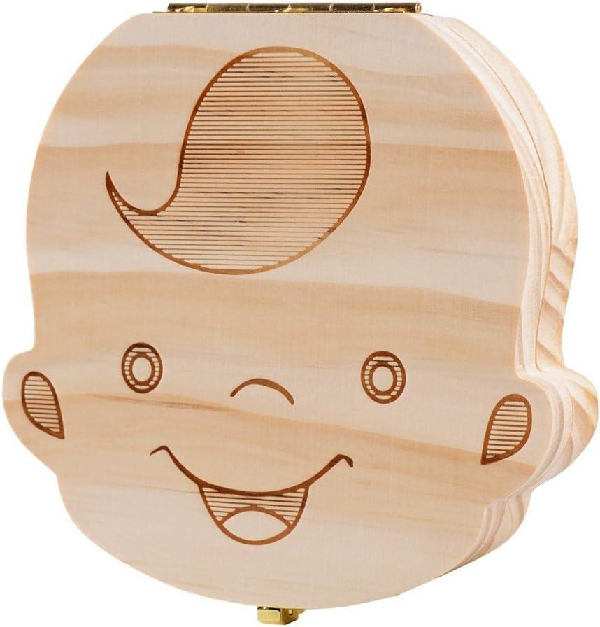 Lance Home® Caja de Recuerdos para Dientes de Leche Caja Dientes Decidui Scatoletta Puerta Ratoncito Pérez Regalo Bebé Niños (Chico): Amazon.es: Hogar