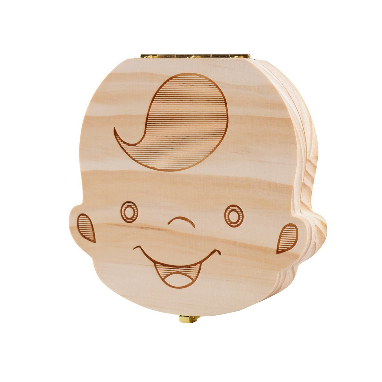 Teeth Boxes, Lance Home Wooden Cartoon Pattern Baby Save Organizer Milk Tooth Wood Storage& Souvenir Box For Kids (Girl)