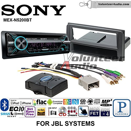 Volunteer Audio Sony MEX-N5200BT Single Din Radio Install Kit with Bluetooth, CD Player, USB/AUX Fits 2003-2009 Toyota 4Runner (Works With Factory Navigation and JBL System Only)