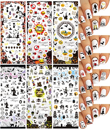 (Halloween Nail Art Water Slide Tattoo Stickers Decals ♥ Great Variety - Pack of)