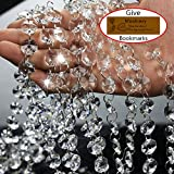 chandelier crystals clear - Musdoney 19.5 Feet Clear Crystal Beads Clear Chandelier Bead Lamp Chain for Wedding Party Tree Garlands Decoration, DIY Jewelry Making,and Other DIY Craft Projects