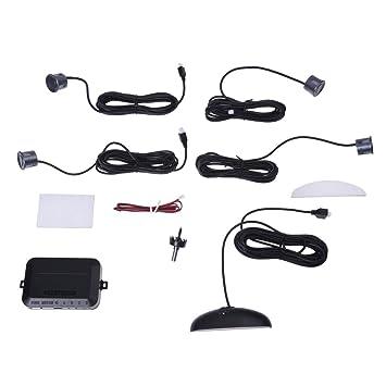 Cikuso Radar DE Nuevo Digital LED de 4 sensores de Aparcamiento Gris DE Ayuda: Amazon.es: Electrónica