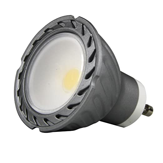 LightED R COB Bombilla LED 50K GU10, 8 W, Gris, 50 x 58