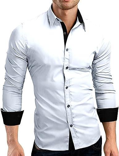 Alaso - Camisa para Hombre Slim Fit sin Planchado, de Manga ...