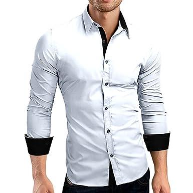 design senza tempo f4b39 9d9be HULKY Vendita Camicia Uomo, Manica Lunga Bavero T Shirt ...