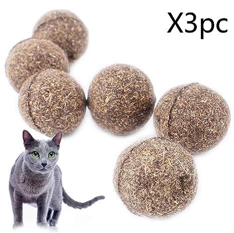 YSYANG Pelota de Gato, Juguete para Gatos, con Revestimiento de Menta, para Entretenimiento