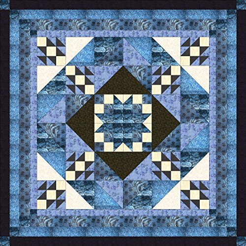 Easy Quilt Kit Diamond Star Medallion/Queen by Galaxy