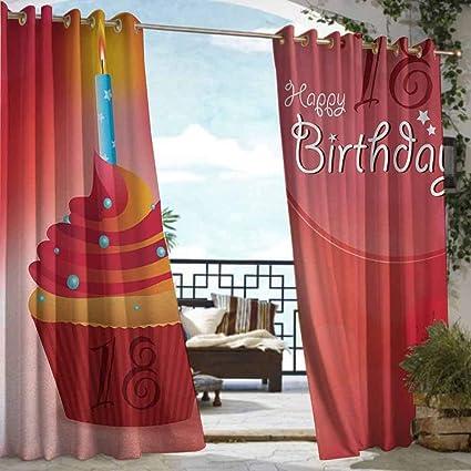 Amazon.com: BDDLS - Cortina de 18 cumpleaños para interior y ...