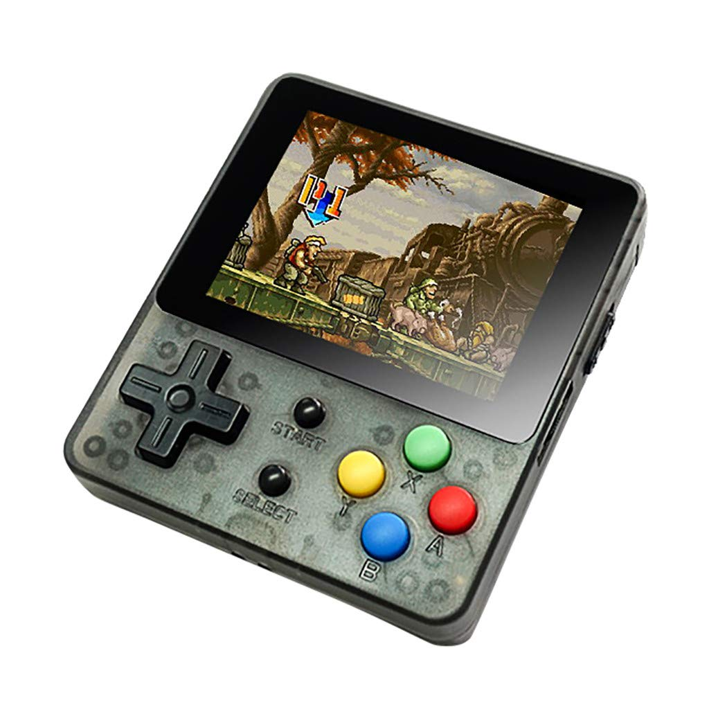 Solovley Handheld Game Console Kids Adults, LDK Game Screen by 2.6 Thumbs Mini Palm Pilot Nostalgia Console Children Retro Console Mini Family TV Video (Black) by Solovely (Image #1)