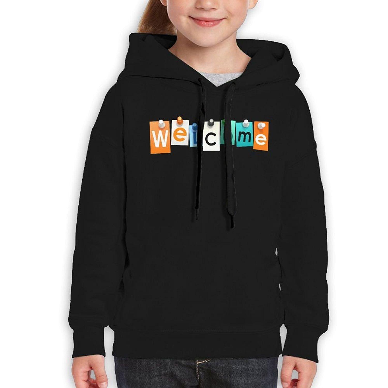 Starcleveland Teenager Pullover Hoodie Sweatshirt Wellcome Card Teens Hooded for Boys Girls