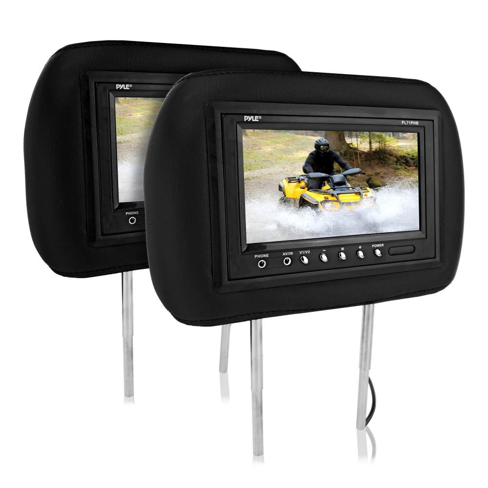 Pyle PL71PHB Headrest Pair with Built-in 7-Inch TFT-LCD Monitors (Black)