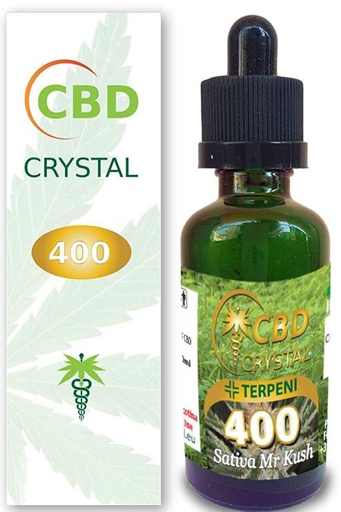 E-liquido Marihuana Cannabis CBD Crystal (sin THC) 400mg Pure CBD 99.3% - 30ml - Liquido para Cigarrillo electronico. SIN NICOTINA.