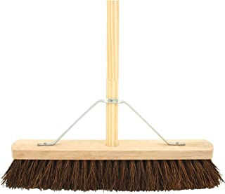 Bentley HN003-18K Wooden Complete Stiff Broom with Pole, 18' Length