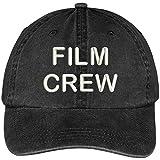 Film Crew Embroidered Pigment Dyed Cotton Cap - Black