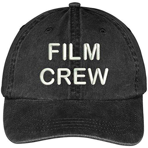 Trendy Apparel Shop Film Crew Embroidered Pigment Dyed Cotton Cap - Black Pigment Cap