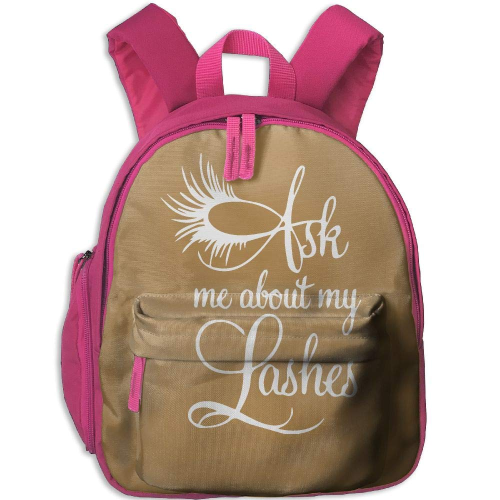 Little Kids'/Toddlers' Backpack Cartoon Ask Me About My Lashes Day Trips School Bag