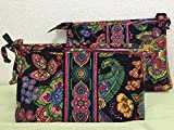 Vera Bradley Large & Medium Bow Cosmetic Duo in Symphony in Hue