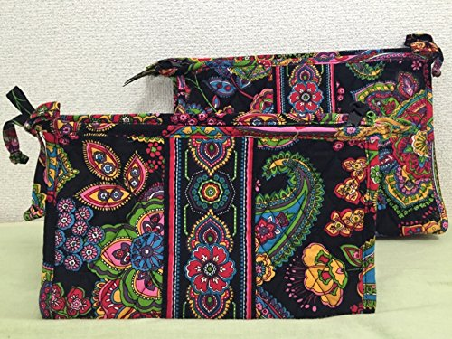 Vera Bradley Large & Medium Bow Cosmetic Duo in Symphony in Hue by Vera Bradley