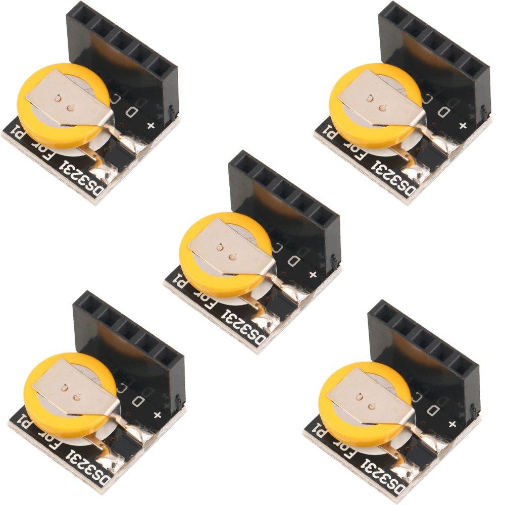 5 St/ück DaoRier DS3231 Real Time Clock RTC Modul IIC Pr/äzision Echtzeituhr Module f/ür Arduino Raspberry Pi