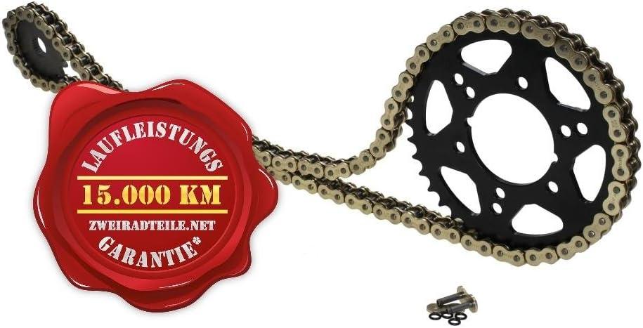 Kettensatz Kette 530 Teilung X-Ring verst/ärkt goldfarben 15 Z/ähne Ritzel 45 Z/ähne Kettenrad f/ür Suzuki GSF 1200 S Bandit 1995-2005 GV75A