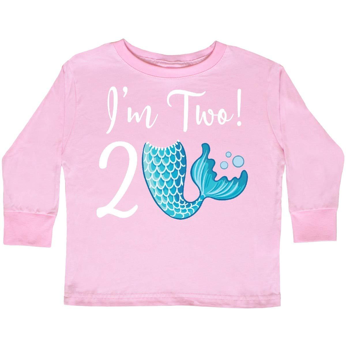 inktastic 2nd Birthday Mermaid Party Toddler Long Sleeve T-Shirt